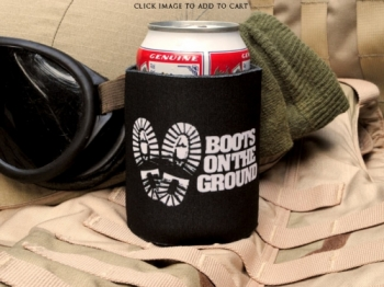 Boots on the Ground Koozie