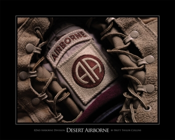 Desert Airborne - 82nd Airborne Division  - All American- Lens Print