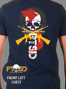 T-SHIRT PTSD NAVY BLUE SHORT SLEEVE