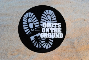 Boots on the Ground 4 inch Decal Static Cling
