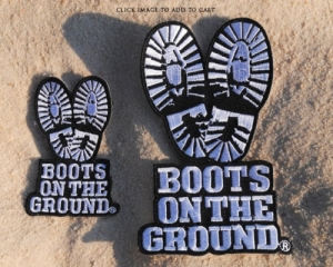 Boots on the Ground Embroidered Patch