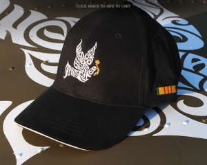 We Gotta Get Out of This Place Dove Black Embroidered Hat