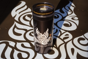 We Gotta Get Out of This Place Dove Insulated Travel Mug