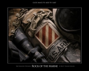 3rd Infantry Division - Rock of the Marne - Giclee Print