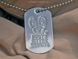 Boots on the Ground Dog Tag