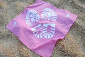 Boots on the Ground Pink Bandanna Printed