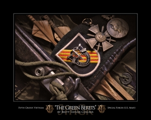 """The Green Berets""-5th Group Special Forces-Vietnam Print"