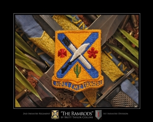 "2nd Infantry Regiment-""THE RAMRODS""-1st Inf. Div.-ORIGINAL VERSION"