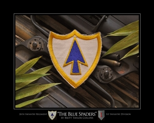 "26th Infantry Regiment- ""THE BLUE SPADERS""-1st Infantry"