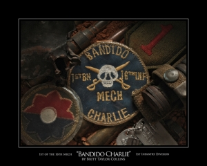 """BANDIDO CHARLIE"" - 1st BN 16th INF (Mechanized)- Vietnam Print"
