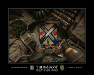 "2nd Infantry Regiment-""THE RAMRODS""-1st Inf. Div.-Second Version"